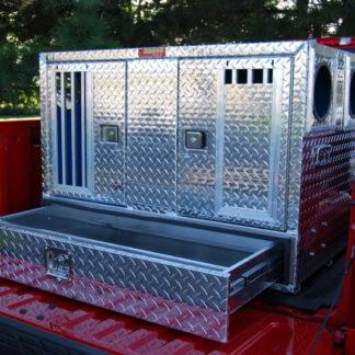 55080W Pro Hunter Series Double Compartment Bottom Storage Dog Box