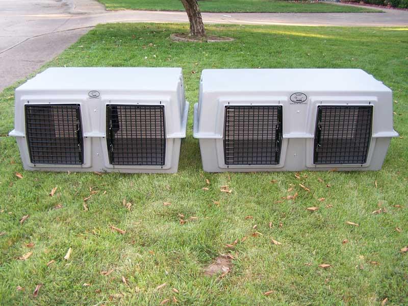 Easy Loader Two Dog Box Eisenhut Dog Kennel Supplies Eisenhut